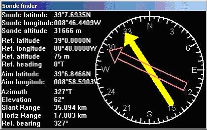 SondeMonitor From COAA - Altitude longitude finder